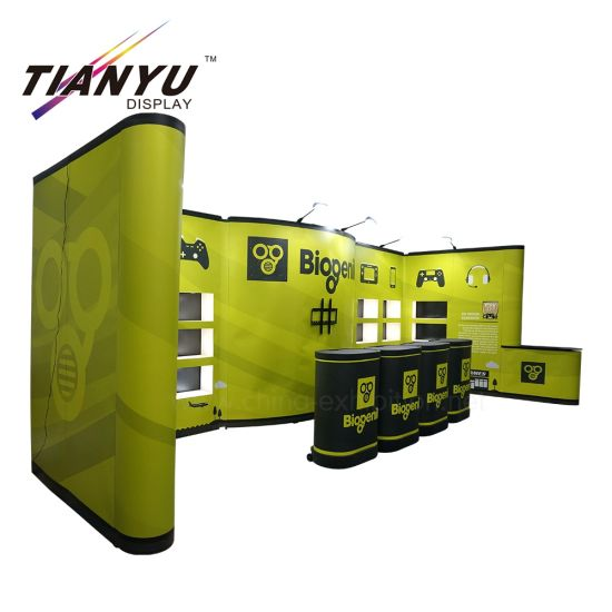 Disesuaikan 6X3m, 10X20FT PVC / Fabric Display, Pop up Tampilan berdiri / Pop up stand