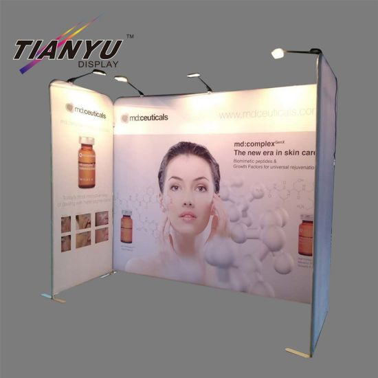 Aluminium Tube Grafis Peregangan Ketegangan Fabric Backwall Trade Show Displays