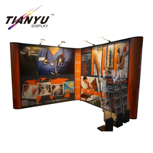 Trade Show Folding Booth Pop up Banner Pameran Tampilan Berdiri