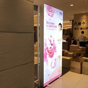 Chain Store Decoration Foto Grosir Booth ganda sisi Toko Pakaian Bingkai-Kurang LED Light Box