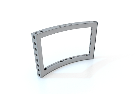 M-series anodized aluminium Curved Frame 1/16
